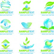 Link toEcology and earth creative logos vector set 01 free