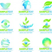 Link toEcology and earth creative logos vector set 02 free