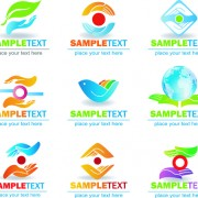 Link toEcology and earth creative logos vector set 03 free