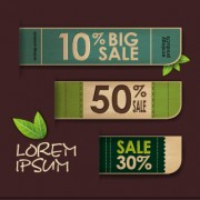 Link toEcology products price tags vector set 04 free