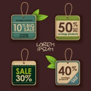 Link toEcology products price tags vector set 05 free