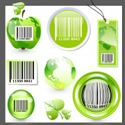 Link toEcology with barcode label and tags vector free