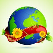 Link toEcology with earth concept design vector 02 free