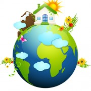 Link toEcology with earth concept design vector 03 free