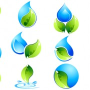 Link toEcology with water logos creative vector free
