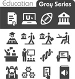 Link toEducation element icons vector