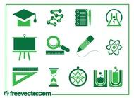 Education icons vectors free