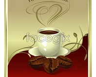 Link toCoffee poster vector eps format coffee beans cup european-style design pattern crown