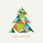 Link toEffect of origami christmas tree vector