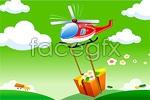 Link toEffect of vector cartoon helicopter