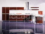 Effect picture of modern kitchen 9 psd
