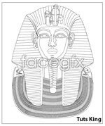 Link toEgypt king statue vector