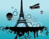 Link toEiffel tower theme vector