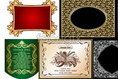 Link toEight beautiful european-style lace pattern eps vector