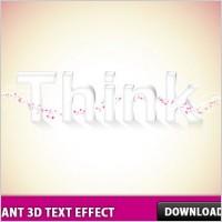 Link toElegant 3d text effect in photoshop