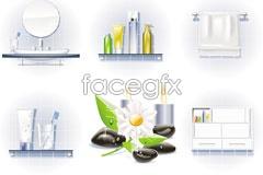 Link toElegant bath series vector