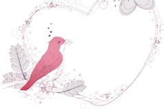 Link toElegant bird loving frame of the pattern vector
