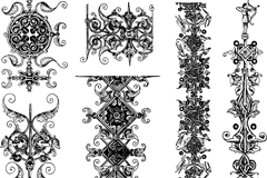 Link toElegant black decorative pattern vector