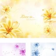 Link toElegant dream flowers background vector 01 free