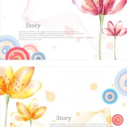 Link toElegant dream flowers background vector 02 free