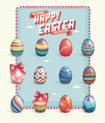 Link toElegant easter eggs vector