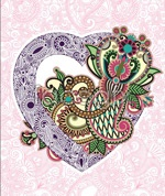 Link toElegant embroidered texture of love vector
