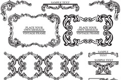 Link toElegant european-style patterned lace vector
