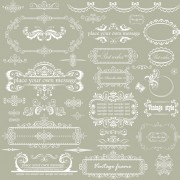 Link toElegant floral frame with ornament elements vector 02 free