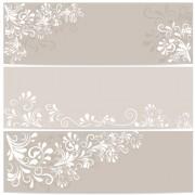 Link toElegant floral ornament banner vector free