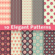 Link toElegant floral patterns vector free