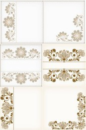 Link toElegant floral stationery vector map