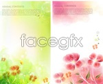 Link toElegant floral typography posters vector