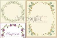 Link toElegant flower borders vector