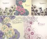 Link toElegant flower pattern background vector