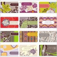 Link toElegant flower pattern business card background 02 vector