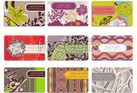 Link toElegant flower pattern business card background vector