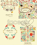 Link toElegant flower patterns vector