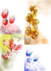 Link toElegant glowing flowers vector