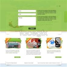 Link toElegant green ice cream dessert site psd