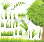 Link toElegant green plants vector