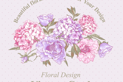 Link toElegant hand-painted floral background vector