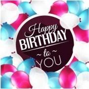 Link toElegant happy birthday balloon background vector 04