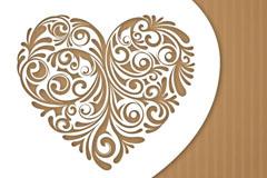 Link toElegant heart-shaped patterns card vector