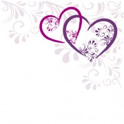 Link toElegant heart with floral background vector 01 free