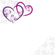 Link toElegant heart with floral background vector 04 free