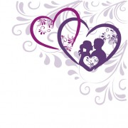 Link toElegant heart with floral background vector 05 free
