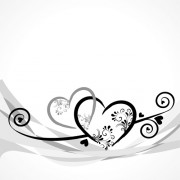 Link toElegant heart with floral background vector 06 free
