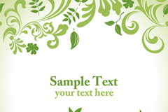 Link toElegant leaf pattern design vector