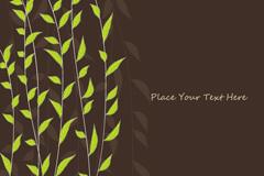 Link toElegant leaf tree vector background
