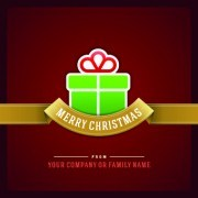 Link toElegant merry christmas card vector graphics